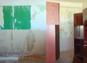 Шокирующее видео обшарпанного класса для первоклассников ужаснуло родителей в Волжском