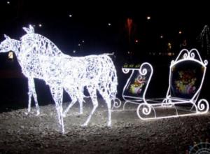 В Волжском пытались угнать сани Деда Мороза