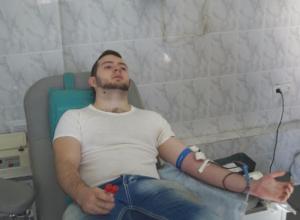 В День донора выстроилась очередь в пункте приема крови в Волжском