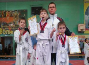 Маленькие спортсмены победили в соревнованиях по тхэквондо в Волжском