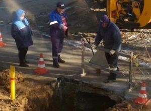 В Волжском из-за аварийных работ газовой службы пострадал новый тротуар