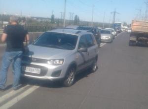 «Шевроле» и «Калина» столкнулись на разбитом мосту через Волжскую ГЭС