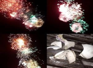 Во время праздничного салюта волжанам на голову падали пластмассовые шары