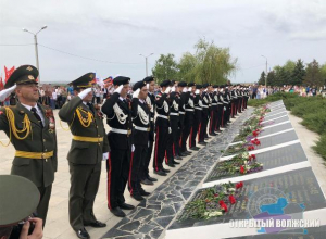 Волжане почтили память погибших воинов минутой молчания
