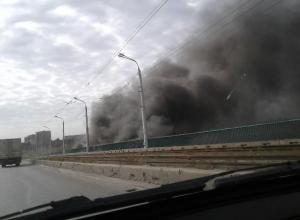 Волжан напугали огромные клубы черного дыма