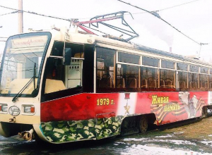 В мужской праздник на линии будет курсировать обновленный трамвай