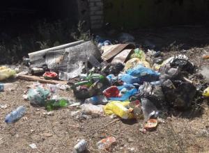 Стихийная свалка выросла на месте мусорных контейнеров на острове Зеленый