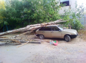 Сильная буря «унесла жизни» машин в Волжском