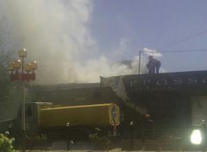 Загорелось кафе Terrassa, которое власти собирались демонтировать в Волжском