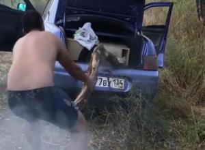 Страстный автовладелец решил покарать свою ласточку за все грехи в Волжском