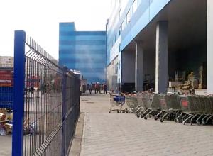 Появилось видео с места ЧП у ТРК «Волгамолл»