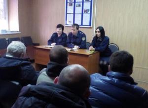 Осужденные в Волжском получили советы от сотрудников ФСИН России