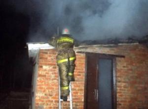 Кирпичная баня сгорела в Ленинском районе