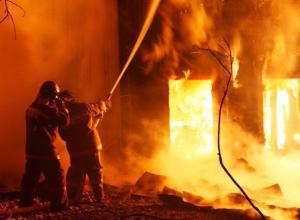 Кирпичная хозпостройка сгорела на территории опытной станции ВИР в Среднеахтубинском районе