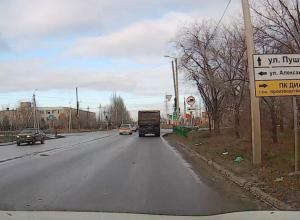 «Стеснительный» светофор нашли водители на дорогах Волжского