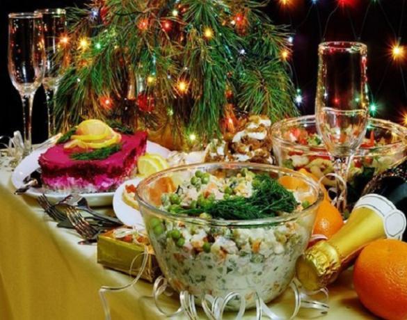 Сколько стоит «новогодний стол» в Волжском?