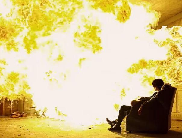 В воскресном пожаре пострадал человек