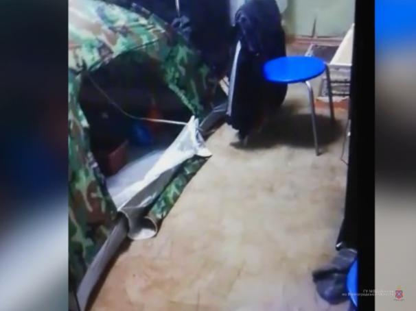 Смекалистый волжанин выращивал коноплю в палатке в своей квартире