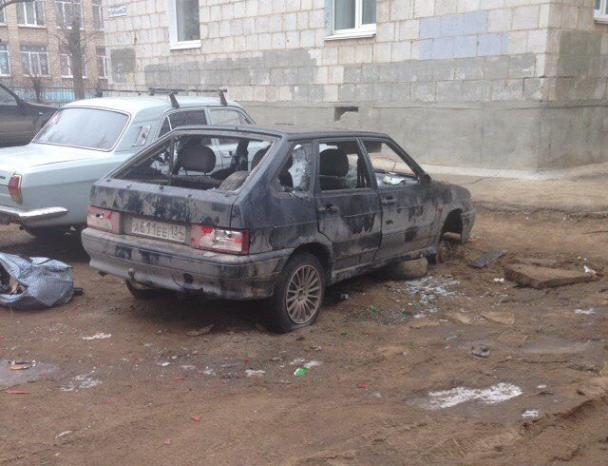 «ВАЗ» стал жертвой новогодних вандалов в Волжском