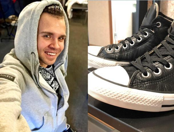 Михаил Игонин устроил мастер-класс по чистке обуви