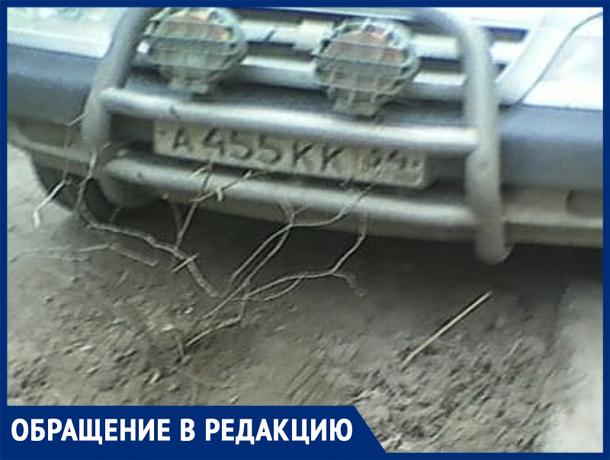 «Водитель решил проблему - выкопал деревья!» - волжанка