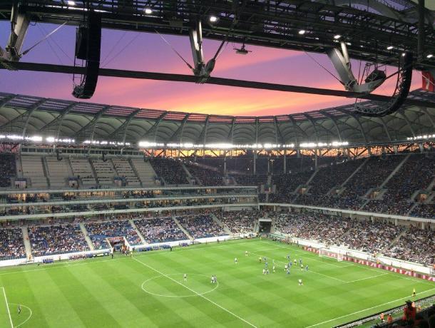 Волжан поразило карамельное небо над стадионом «Волгоград Арена»
