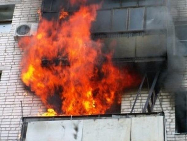 В понедельник в Волжском произошло два пожара