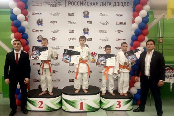 Волжане приехали с медалями с Российской лиги дзюдо