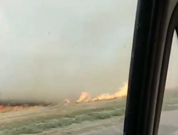 Волжане проехали «в метре» от стихийного пожара