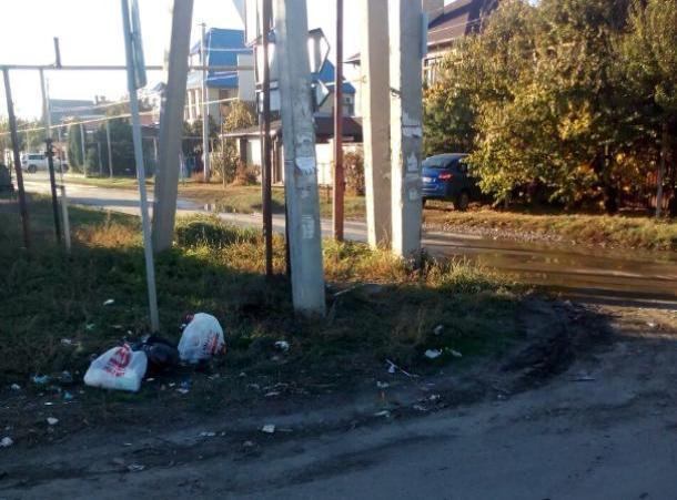 Элитный поселок Киляковка утопает в мусоре