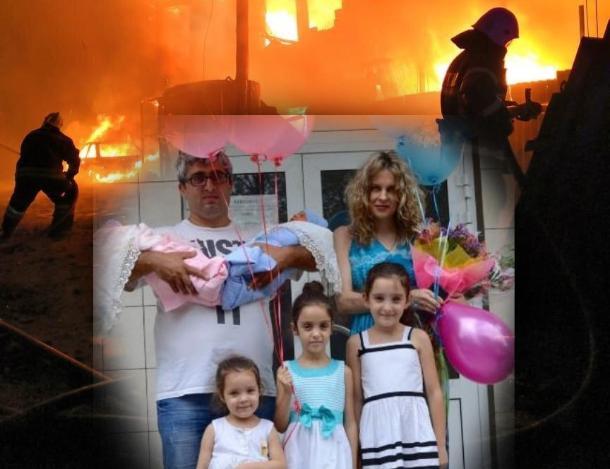 В Волжском супруги ночью из горящего дома спасали пятерых детей