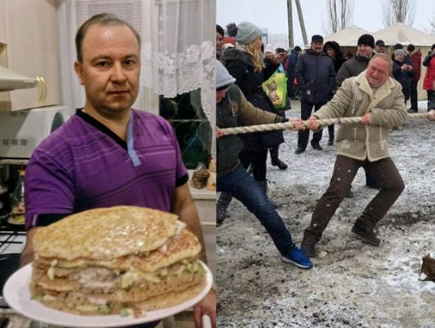 Воронин VS Ястребов: кандидаты в мэры Волжского сразились в масленичном батле