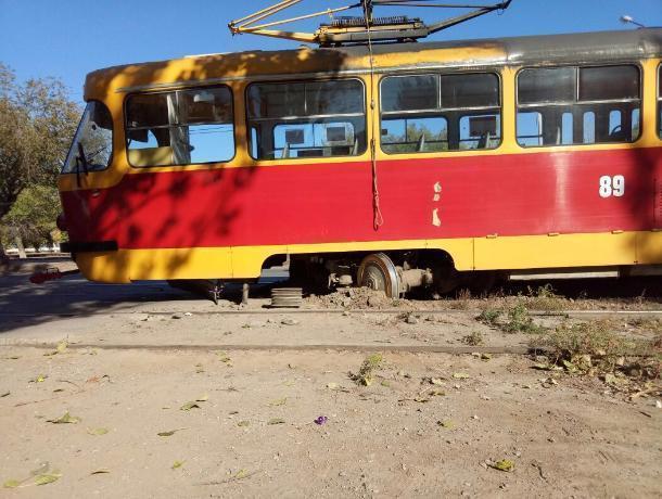 Авария на путях парализовала движение трамваев в Волжском