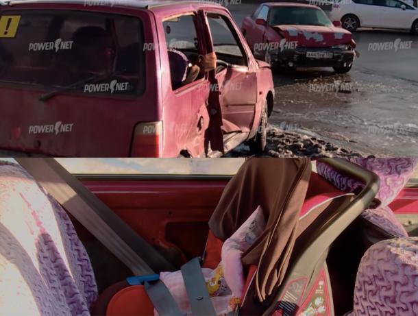 Восьмимесячная малышка вылетела из машины во время аварии в Волжском