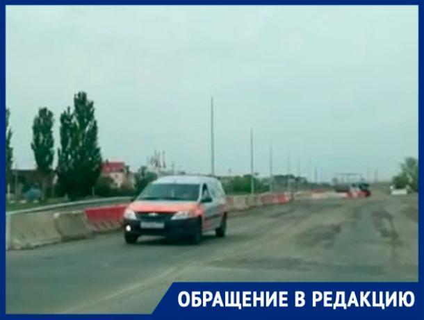 «Было несколько аварий, пробки», - волжанин о ремонте дороги