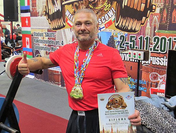 Рабочий мэрии Горячего Ключа стал чемпионом мира попауэрлифтингу