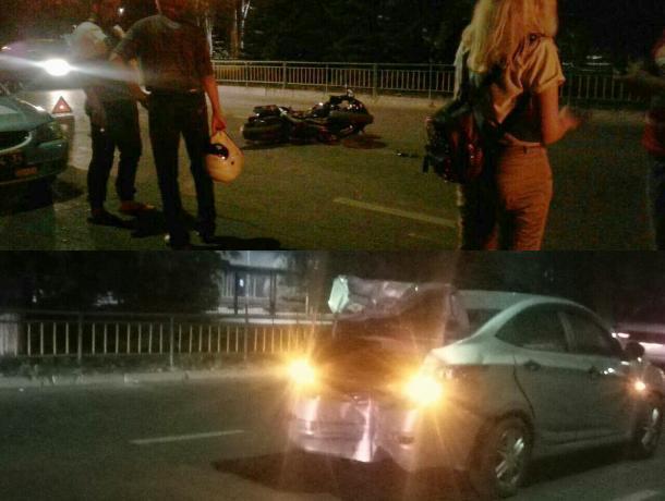 Мотоциклист «в рубашке» чудом остался жив после ДТП в Волжском