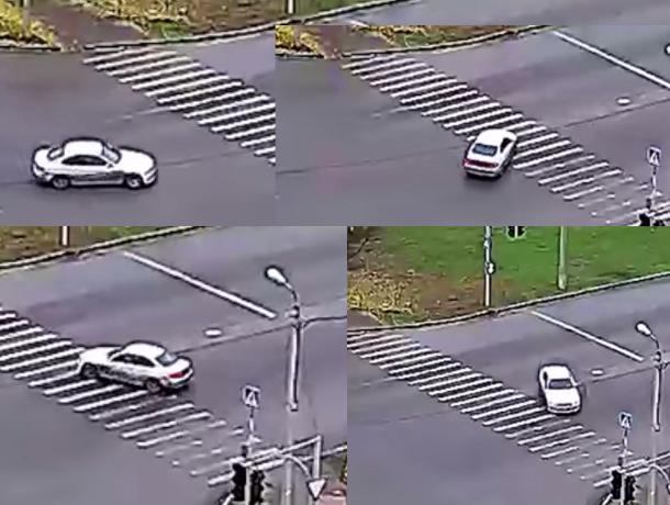 Экстремальный «дрифтун» показал мастер-класс волжским водителям посреди перекрестка