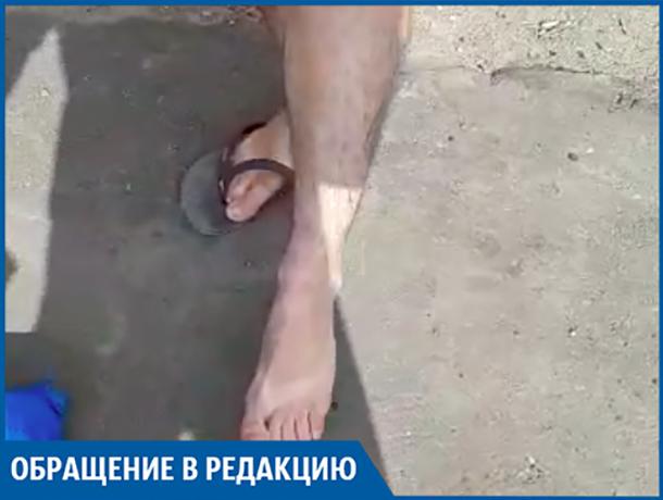 Новый асфальт на Пушкина засасывает обувь волжан