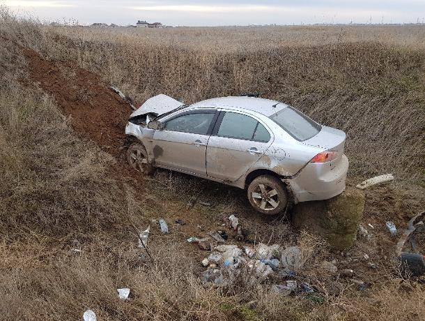 «Летающий» Mitsubishi обнаружили в кювете в Волжском