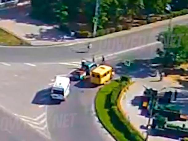 Нарушитель на двух колесах скрылся с места ДТП
