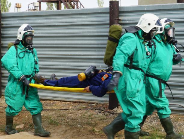 В Волжском условно ликвидировали выброс химического вещества
