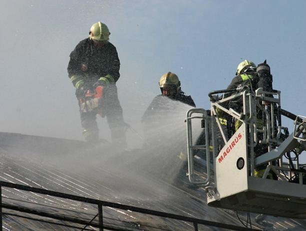 В Ленинском районе сгорел дом