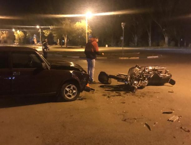 Жертвой молодого автомобилиста стал водитель «железного коня»