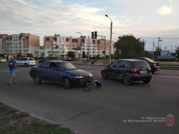 Младенец автоледи пострадал в ДТП в Волжском