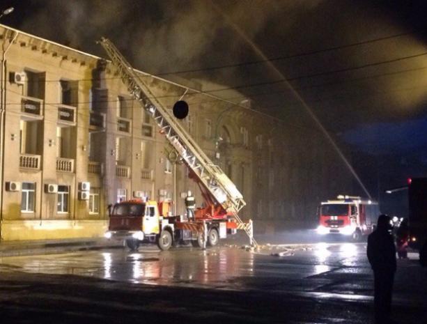 Эксклюзивное видео пожара в мэрии публикует «Блокнот Волжского»