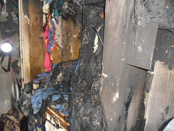 В квартире пятиэтажки у волжан сгорели вещи
