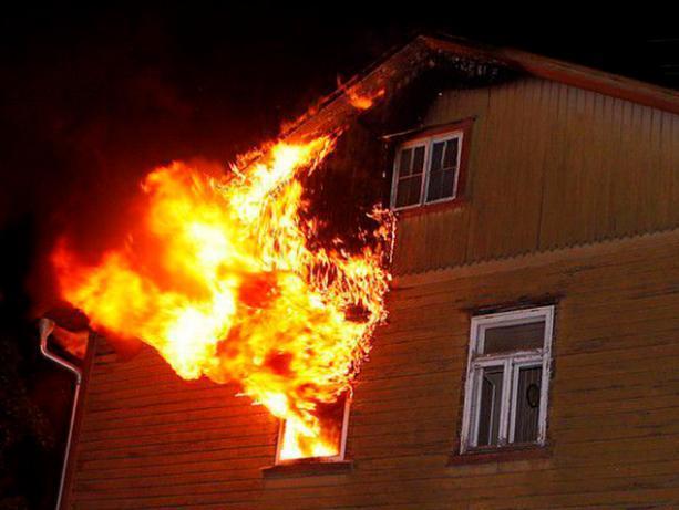 Деревянный дом горел под Волжским