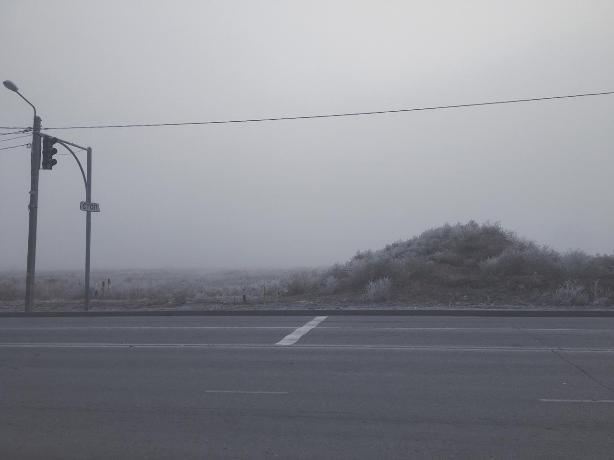 Туман осядет на день в Волжском