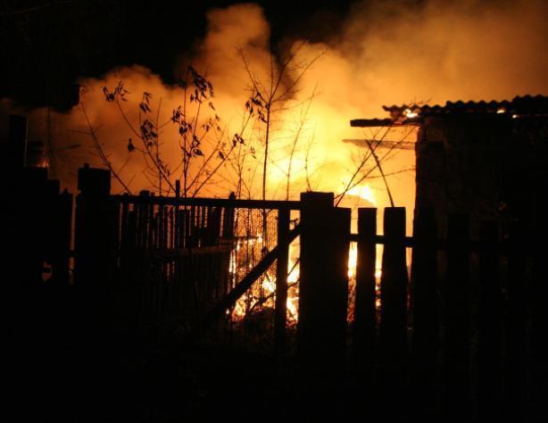 Жители Быково спали, когда горело здание